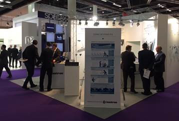 Kontron Booth at Aircraft Interiors Expo 2017 in Hamburg, Germany